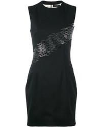 Женское черное облегающее платье с пайетками от Dsquared2