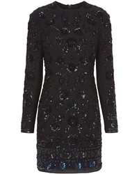 Женское черное облегающее платье с пайетками от Needle & Thread