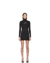 Черное облегающее платье от Vetements