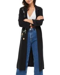Черное пальто дастер
