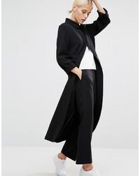 Женское черное пальто дастер от Monki
