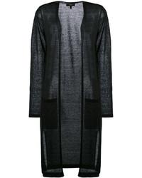 Женское черное пальто дастер от Theory