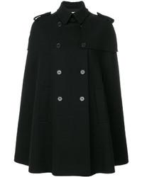 Черное пальто-накидка