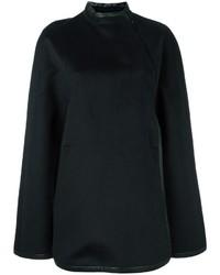 Женское черное пальто-накидка от Barbara Bui