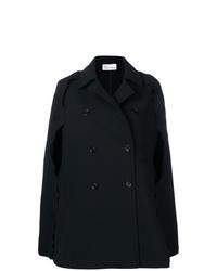 Черное пальто-накидка от RED Valentino