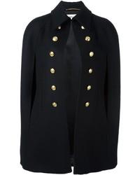 Женское черное пальто-накидка от Saint Laurent