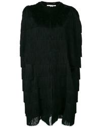 Черное пальто-накидка от Stella McCartney