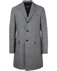 """Мужское черное пальто с узором """"гусиные лапки"""" от Tod's"""