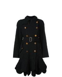 Женское черное пальто с цветочным принтом от Comme Des Garçons Vintage