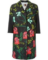 Женское черное пальто с цветочным принтом от I'M Isola Marras