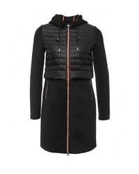 Женское черное пальто от Clasna