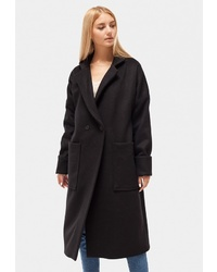 Женское черное пальто от Dorogobogato