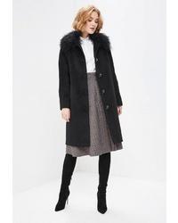 Женское черное пальто от Doroteya