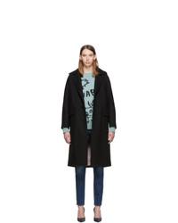 Женское черное пальто от Dsquared2