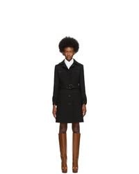 Женское черное пальто от Gucci