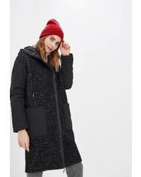 Женское черное пальто от Helmidge