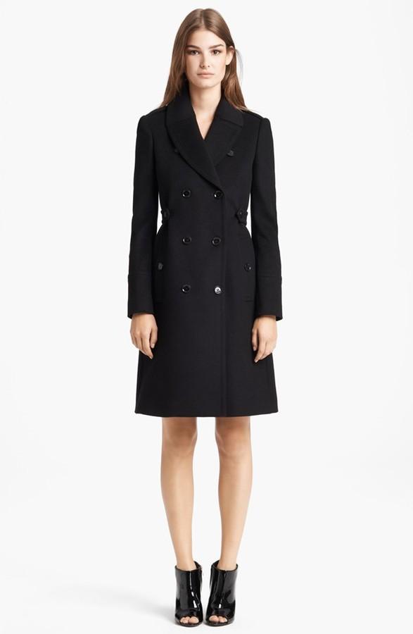 пальто женское чёрное фото