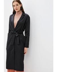 Женское черное пальто от Marco Bonne`