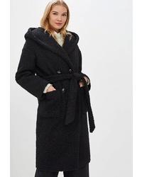 Женское черное пальто от Ovelli