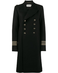 Женское черное пальто от Saint Laurent