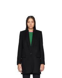 Женское черное пальто от Stella McCartney