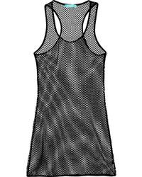 Черное платье-майка в сеточку от Melissa Odabash