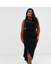 Черное платье-миди от John Zack Plus