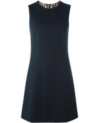 Женское черное платье прямого кроя от Dolce & Gabbana