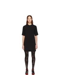 Черное платье прямого кроя от Gucci