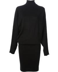 Черное платье-свитер