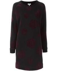Женское черное платье-свитер от Kenzo