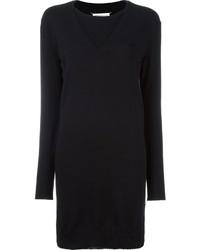 Женское черное платье-свитер от Maison Margiela