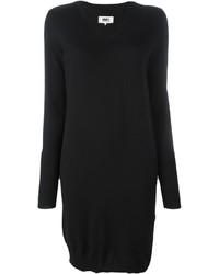 Женское черное платье-свитер от MM6 MAISON MARGIELA