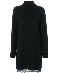 Женское черное платье-свитер от Sacai