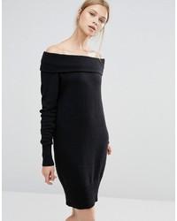 Женское черное платье-свитер от Vila