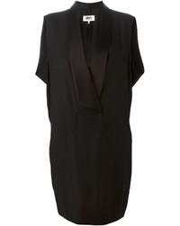 Черное платье-смокинг