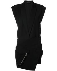 Черное платье-смокинг от Alexandre Vauthier