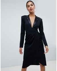 Черное платье-смокинг от Club L