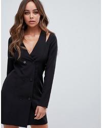 Черное платье-смокинг от PrettyLittleThing