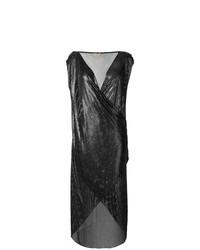 Черное платье-футляр с пайетками от Versace Vintage