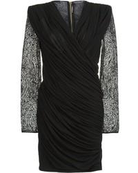 Женское черное платье-футляр от Balmain
