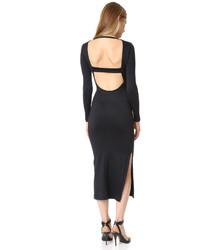 Женское черное платье-футляр от David Lerner