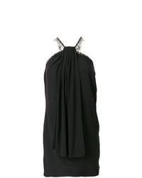 Черное платье-футляр от Saint Laurent
