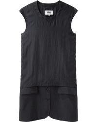 Черное повседневное платье