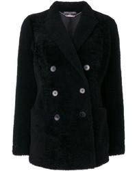 Женское черное полупальто от Alexander McQueen