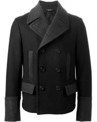 Мужское черное полупальто от Dolce & Gabbana