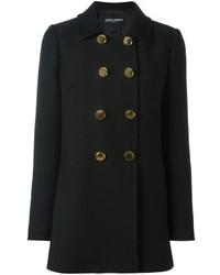 Женское черное полупальто от Dolce & Gabbana