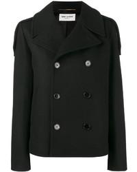 Женское черное полупальто от Saint Laurent