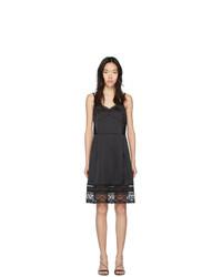Черное сатиновое платье-комбинация от Marc Jacobs