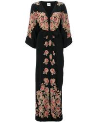 Женское черное шелковое вечернее платье от Vilshenko
